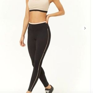Active Contrast Piping Leggings